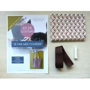 Kit de couture - Je fais mes courses - Tote bag- Éventail