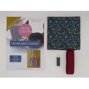Kit de couture - Je fais mes courses - Tote bag- Feuilles