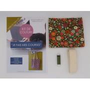 Kit de couture - Je fais mes courses - Tote bag- Fleurs Vintage