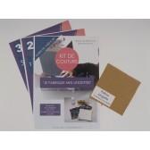 Kit de couture - Je fabrique mes lingettes - Matériel et patrons fournis