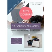 Tutoriel de couture - Lingettes lavables zéro déchet - Facile avec tutoriel pour apprendre à coudre