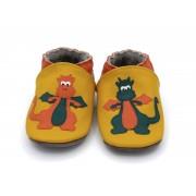 Chaussons en cuir souple - Mes Dragons