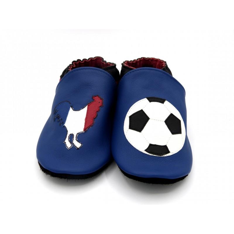 Chaussons en cuir souple - Foot Français. Antidérapants et résistants