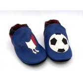 Chaussons en cuir souple - Foot France. Pour enfant et adulte.