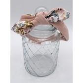 Les jolies bandeaux - Pêche fleuri : double gaze de coton