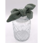 Les jolies bandeaux - Vert pailleté : double gaze de coton