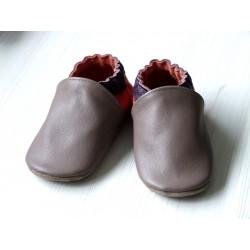 Chaussons en cuir enfant et adulte - Couleurs à personnaliser - Exemple 2