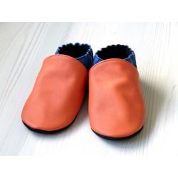 Chaussons en cuir enfant et adulte - Couleurs à personnaliser - Exemple 3