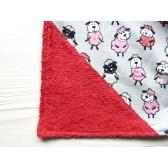 Serviette élastique éponge - Petit Mouton. Fait main original et unique