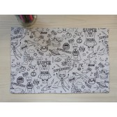 Planche à coloriage : Supers héros. Crayon Verso